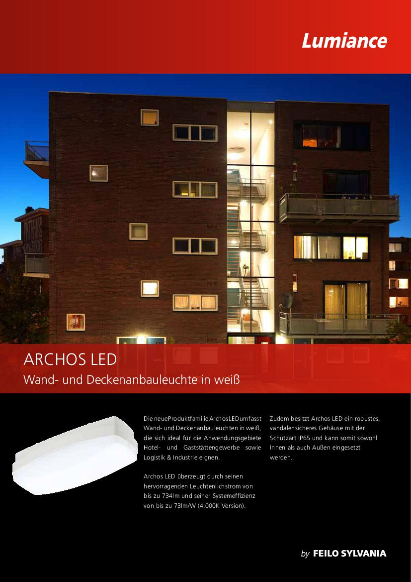 Documents Type: Selling Sheets. Archos LED   German